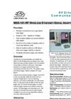 RF Ethernet Data Logger Communications - Data Sheet