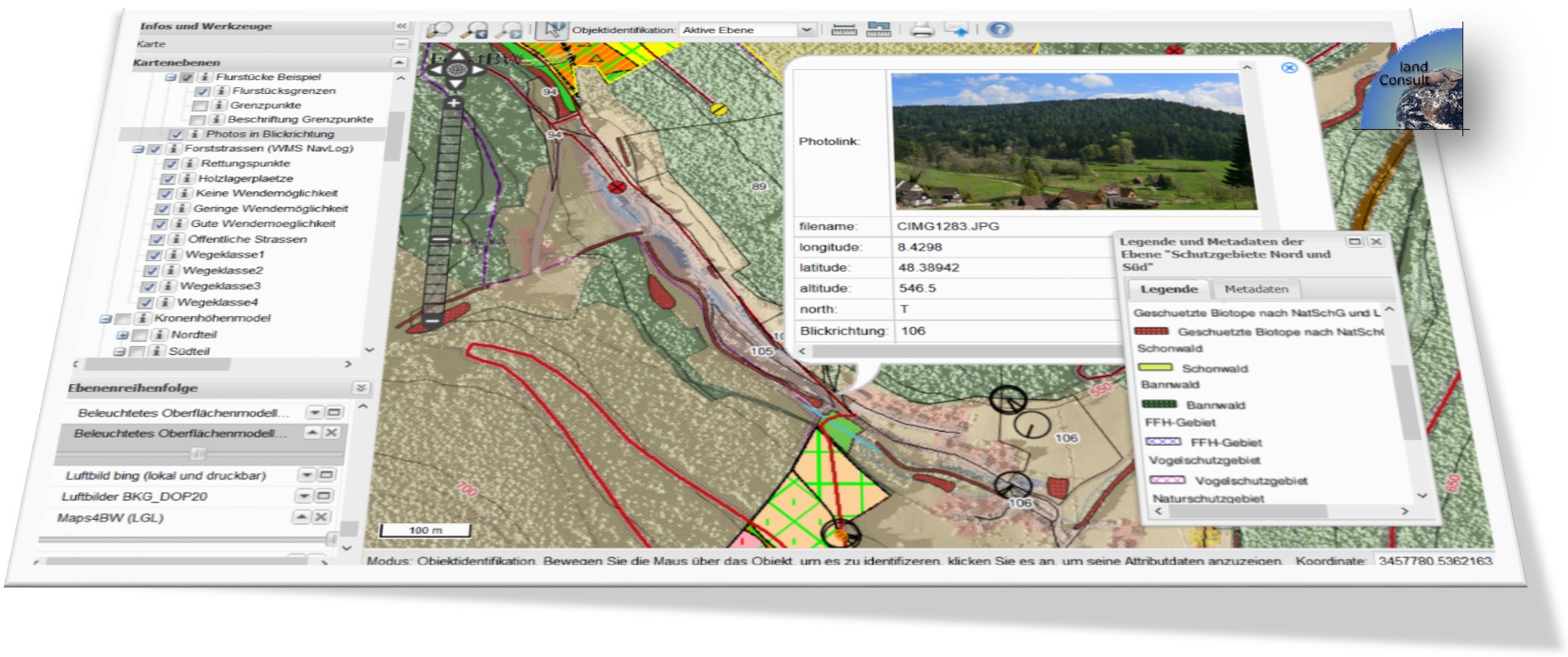 3D ForestGIS with 3D Forest Inventory Data and Web Maps - Agriculture - Forestry