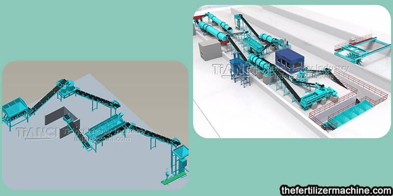 The price of organic fertilizer equipment depends on the process and model