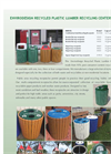 Envirodesign - Model D9025 - Recycled Plastic Lumber Recycling Receptacles - Brochure