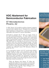 VOC Abatement for Semiconductor Fabrication