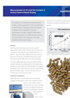 Measurement of Oil and Fat Content in Animal Feed without Drying Application Brochure
