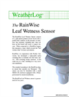 RainWise - Model LW - Leaf Wetness Sensor - Datasheet