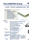 CORETEX TransLite Lightweight GRP/PP/GRP Transport Honeycomb Panels Datasheet