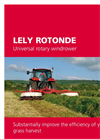 Lely Rotonde 510 Hydraulically Adjustable Windrower Brochure