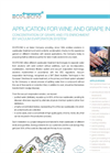Wine And Grape Industry Application Notes