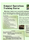 USCC Compost Operations Training Course in Chantilly, VA - Class Flyer