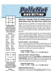 PollyNet - Bird Netting Brochure
