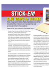 Nixalite - Model Stick-Em - Glue Traps for Snakes - Brochure