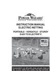 Electric Fence Netting Kit - Manual