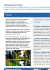 Algae Control in Golf Course Ponds Application Brochure
