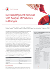 Increased Pigment Removal with Analysis of Pesticides in Oranges