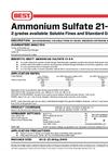Simplot 21-0-0 - Ammonium Sulfate Datasheet