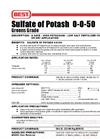 Simplot 0-0-50 - Sulfate of Potash Datasheet