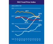 World food prices stay high, but steady