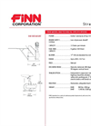 FINN - Model B40 - Straw Blowers - Shreds and Blows 2-3 Bales - Technical Specifications Datasheet