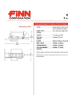 FINN - Model BB-302 - Bark Blowers - 1.5 Cubic Yard Hopper Capacity Technical Specifications - Datasheet