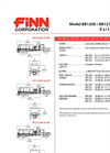 FINN - Model BB1222 - Bark & Mulch Blowers - 21.8 Cubic Yard Capacity - Technical Specifications