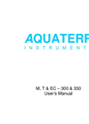 Aquaterr - M, T & EC - 300 & 350 - Portable Soil Probes - Users Manual