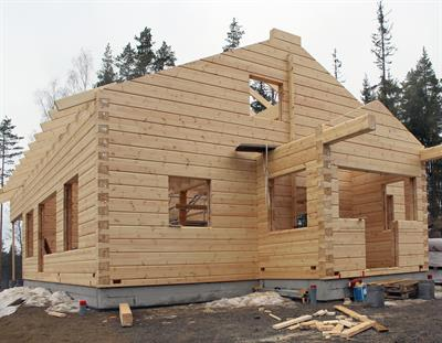 Do you manufacture wooden houses from natural logs or glue-laminated logs? - Forestry & Wood