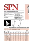 SPN Narrow Fan Spray and High Impact Spray Nozzle Brochure