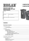 Biolan - Model 550 - Composter - Manual