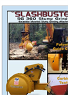 Slashbuster - Model SG 360 - Excavator Mounted Stump Grinder Attachment Datasheet