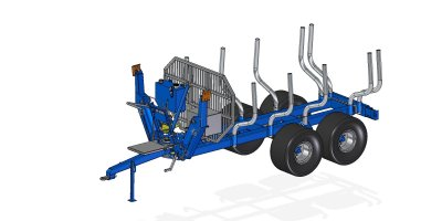 Scandic  - Model ST-10D - Forestry Trailer