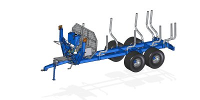 Scandic - Model ST-12D - Forestry Trailer