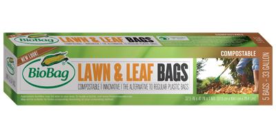 BioBag - Model 187125 - 33 Gallon Lawn & Leaf Bags (5 Count)