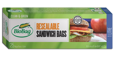 BioBag - Model 190420 - Resealable Sandwich Bags