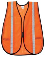 MCR - Model V211SRRC - General Purpose Mesh Safety Vest, Orange w/Silver Stripes
