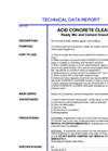 ACID CONCRETE CLEANER Ready Mix and Cement Dissolver- Broucher
