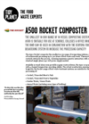 Tidy Planet - Model A500 - Rocket Food Waste Composter Datasheet