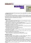 Agrónic - Model 5000 - Hydroponic Fertigation Controller Brochure