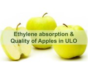 Ethylen absorption and quality of Apples in ULO conditions