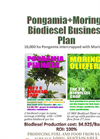 Pongamia with Moringa Biodiesel Business Plan 10000 ha