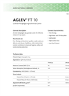 AGLEV - FT 10 - Granular Attapulgite Agrochemical Carrier - Technical Datasheet