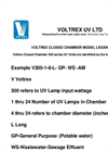 Voltrex Closed Chamber Model Legend Brochure