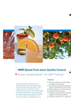 NMR Based Fruit Juice Quality Control
