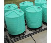 Agricultural wastewater – cone bottom tanks for wastewater settlement