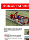 Containerised Batch Unit Datasheet