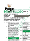 Model UF - P7295D-AG - Underground Feeder Circuit Cable - Datasheet