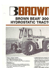 Brown Bear - Model 300 - Hydrostatic Tractor Brochure