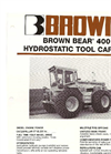 Brown Bear - Model 400 - Hydrostatic Tractor Brochure