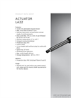 Model LA22 - Linear Actuator  Brochure