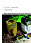 Model PM400/600, Riceter, PQ100/500, and TX20 - Agricultural Testers Brochure