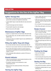 Suggestions for the Use of the AgFlex Bag Bulletin