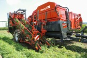 Dewulf launches new generation of one- and two-row trailed top lifting harvesters with bunker