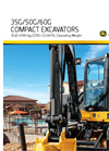 35G, 50G and 60G Compact Excavators